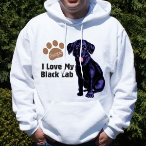 Personalized I Love My Black Lab Hooded Sweatshirt