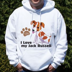 Personalized I Love My Jack Russell Hooded Sweatshirt