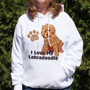 Personalized I Love My Labradoodle Hooded Sweatshirt