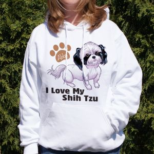 Personalized I Love My Shih Tzu Hooded Sweatshirt