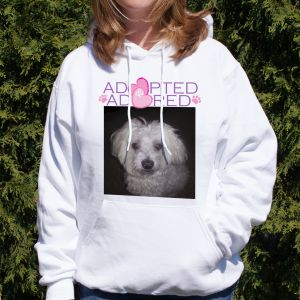 Adopted and Adored Pet Photo Hooded Sweatshirt