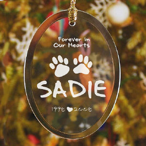 In Our Hearts Pet Memorial Ornament