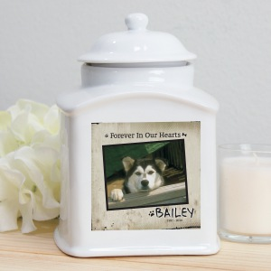 Ceramic Photo Dog Urn