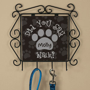 Personalized Did You Say Walk Leash Hanger