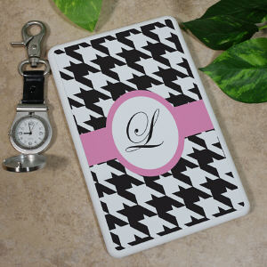 Personalized Kindle Fire Case - Houndstooth Design