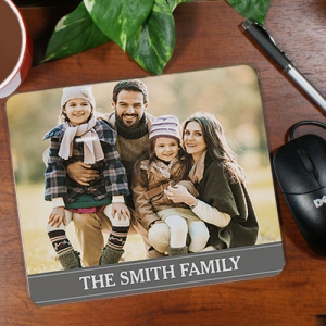Family Photo Personalized Mouse Pad