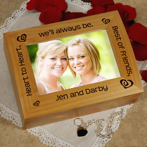 Heart to Heart, Best Friends Photo Keepsake Box | Personalized Keepsake Box