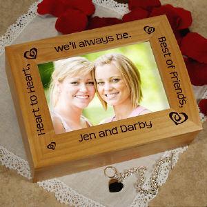 Heart to Heart, Best Friends Photo Keepsake Box