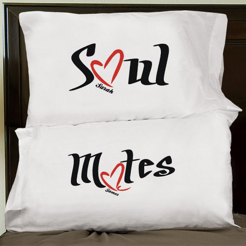 Soul Mates Pillowcase Set | Valentine Pillow Cases
