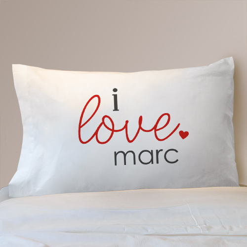 Personalized I Love You Pillow Case Set 83082110