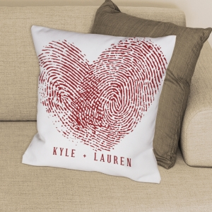 Couples Fingerprints Throw Pillow