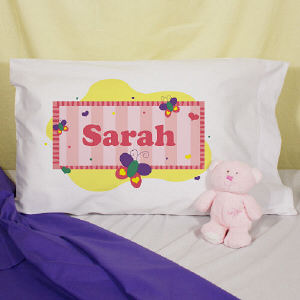 Personalized Butterfly Pillowcase