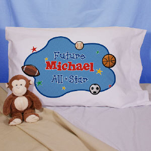Personalized Sports Pillowcase for Baby