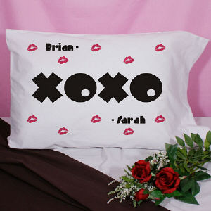 Personalized XOXO Pillowcase
