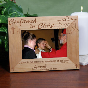 Engraved Confirmation Wood Picture Frame