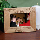 Confirmed in Christ Confirmation Wood Picture Frame