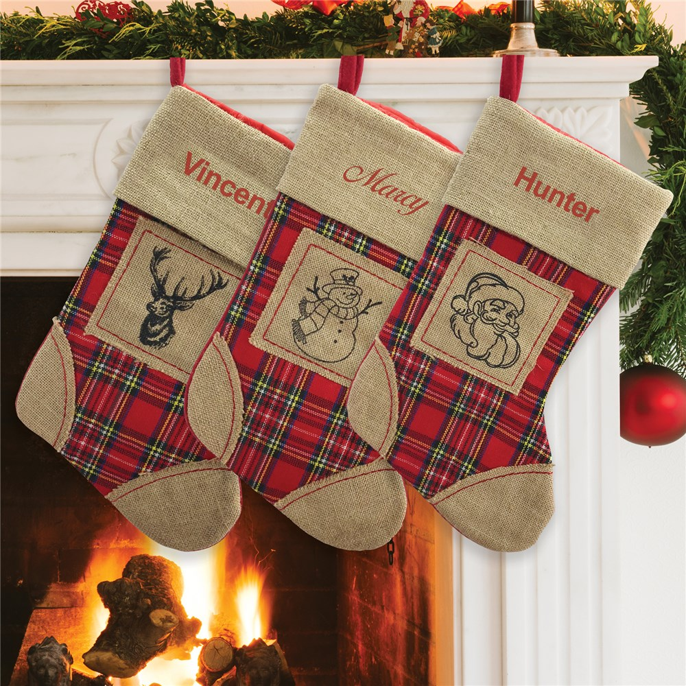 Burlap Stockings | Rustic Stocking