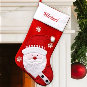 Embroidered Santa Christmas Stocking | Personalized Stocking