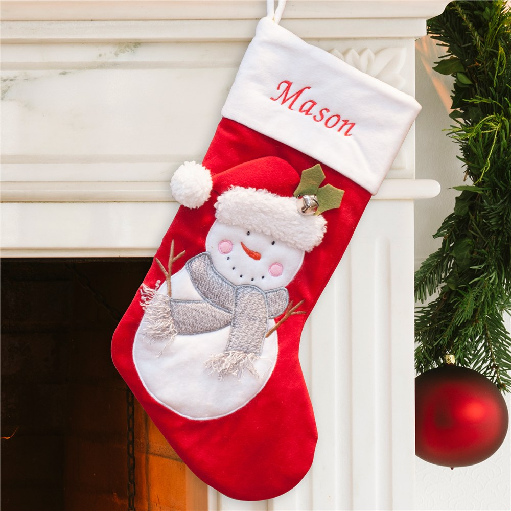 Personalized Snowman Stocking S96469