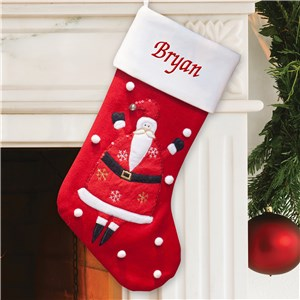 Personalized Wool Santa Stocking | Personalized Christmas Stockings