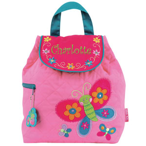 Quilted Butterfly Embroidered Backpack E000262