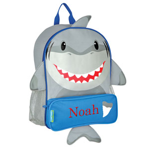 E000268 Embroidered Shark Backpack