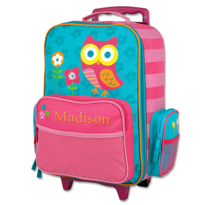 Embroidered Owl Rolling Luggage