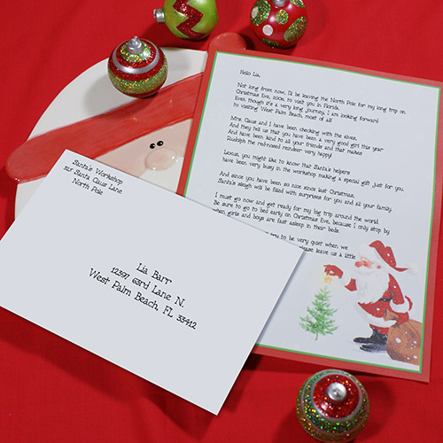 Personalized Letter From Santa - Santa's Wish