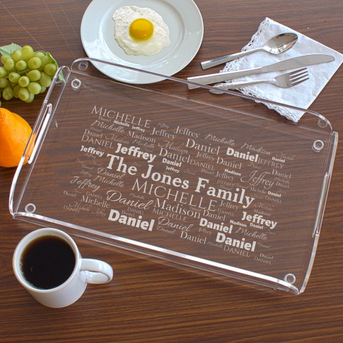 Engraved Family Serving Tray | Personalized Housewarming Gifts