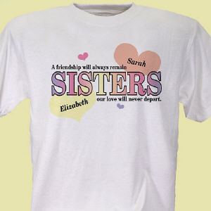 Personalized Sisters Friendship T-Shirt
