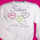 Sisters Heartstrings Personalized Sweatshirt