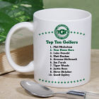 Personalized Top Ten Golf Ceramic Coffee Mug