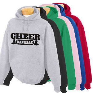 Personalized Cheer Hooded Sweatshirt