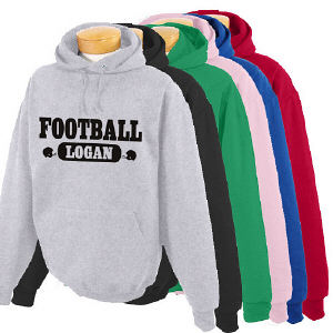 Personalized Football Hooded Sweatshirt