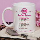 Personalized Top Ten Ladies Golf Ceramic Coffee Mug