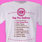 Personalized Top Ten Ladies Golf T-Shirt