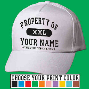 Property of Athletic Personalized Hat