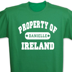 Property of Ireland Personalized T-shirt