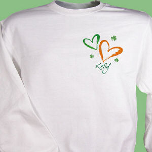 Hearts & Luck Personalized Irish Sweatshirt