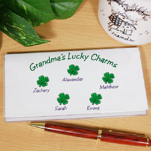 Lucky Charms Personalized Checkbook Cover