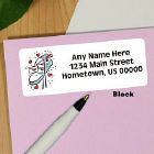 Heart Mailbox Address Labels
