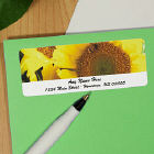 Sunflowers Personalized Photo Address Labels