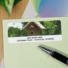 Birdhouse Personalized Photo Address Labels