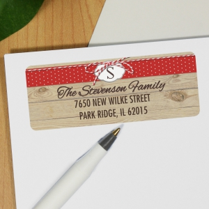 Woodgrain Address Labels 197220