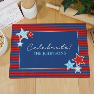 Fourth of July Celebration Cutting Board