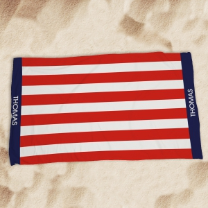 Personalized USA Pride Beach Throw