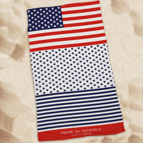 Personalized Patriotic Beach Towel U777433