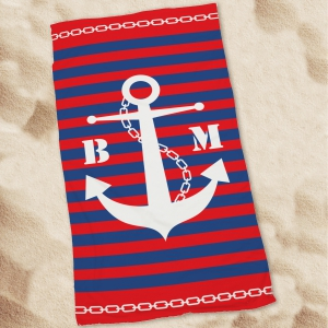 Personalized Anchor Beach Throw