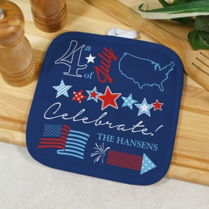 4th of July Personalized Pot Holder | Patriotic Gifts