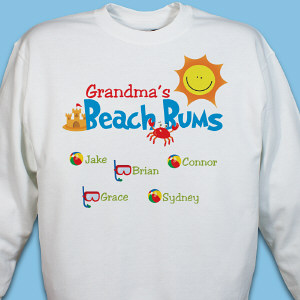 Personalized Beach Bums Sweatshirt